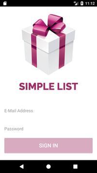 Simple List poster