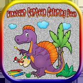 Dinosaur Cartoon Coloring Book icon