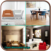 chairs minimalist design icon