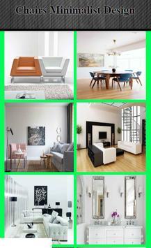 chairs minimalist design poster