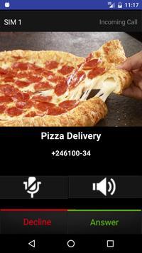 Fake Call Pizza screenshot 1