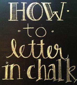 chalkboard lettering ideas poster