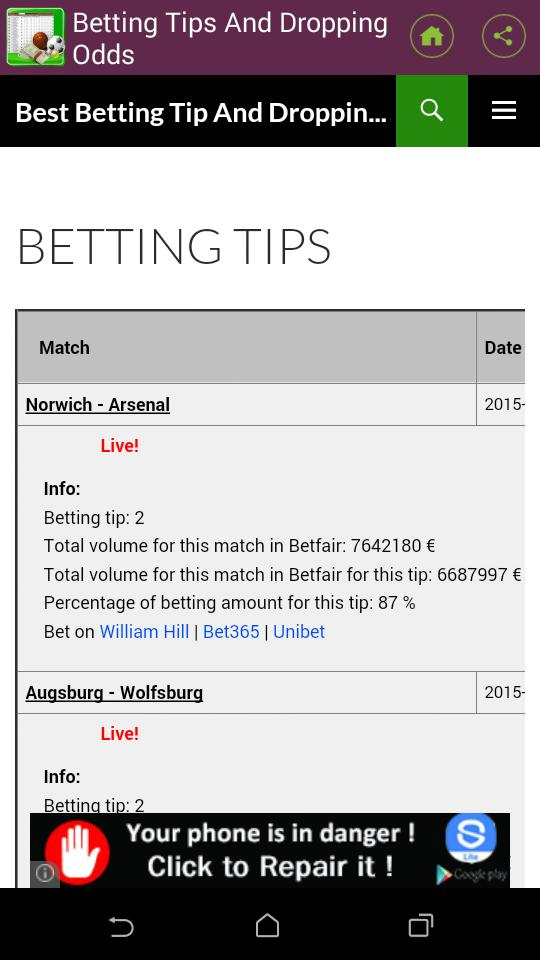 Betting Tips And Dropping Odds for Android - APK Download