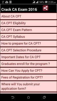 Crack CA exam 2016 poster