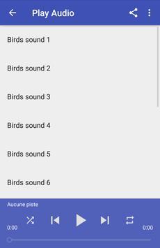 Birds sounds screenshot 2