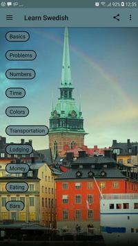 Learn Swedish poster