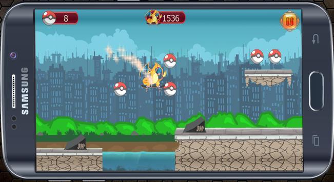 Charizard Dragon Skater Run apk screenshot