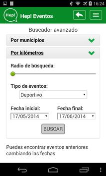 Hep! Eventos apk screenshot