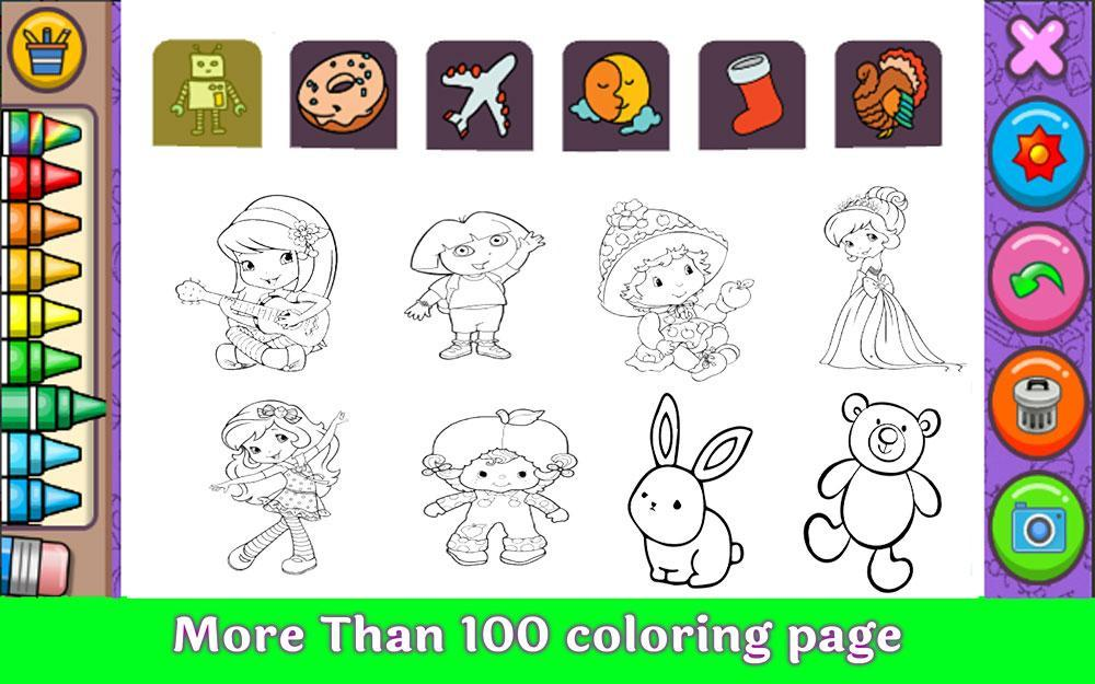 Amazing Coloring Page Cute Strawberry Queen For Android Apk