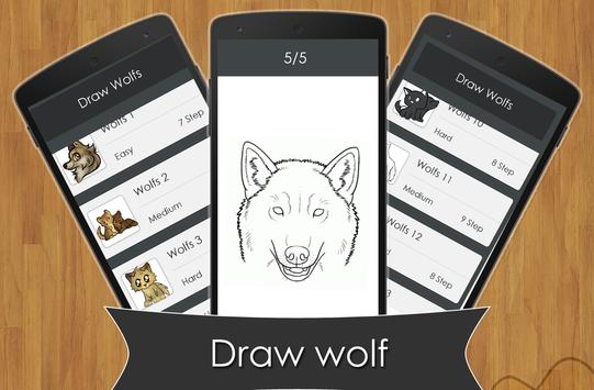 learn to Draw Wolf apk screenshot