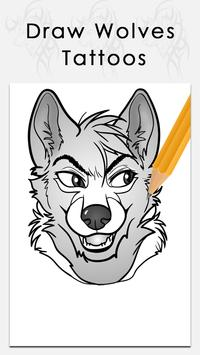 Learn to draw Wolves tattoos poster