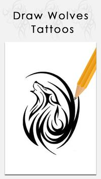 Learn to draw Wolves tattoos apk screenshot