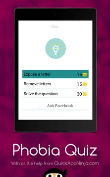 Phobia Quiz App apk screenshot