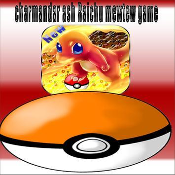 charmander ash Raichu mewtwo game poster