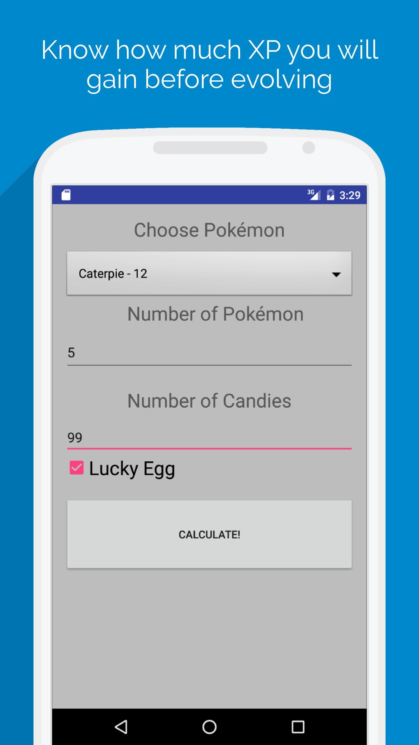 XP Calculator for Pokemon GO para Android - APK Baixar