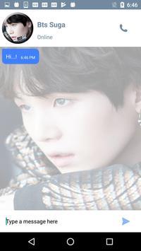 Live Chat With BTS Suga KPop Fans - Prank screenshot 2