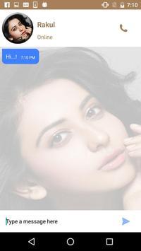 Live Chat With Rakul - Prank screenshot 2