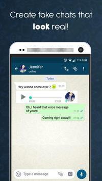 WhatsApp Fake jok - (Create fake chats) poster