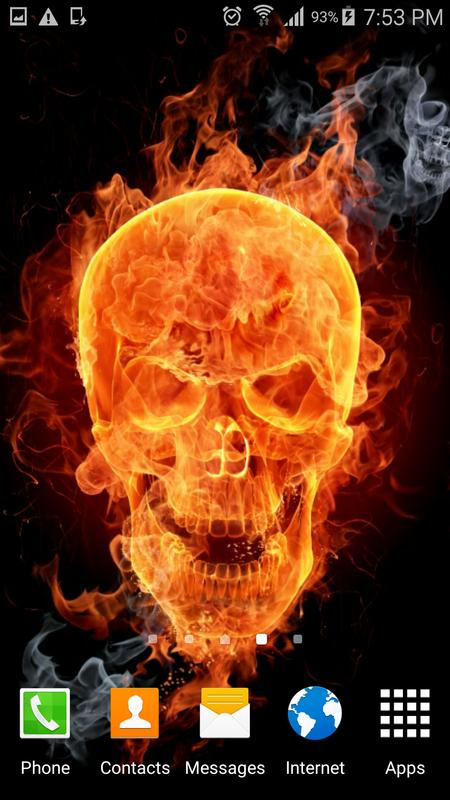 Fire skulls live wallpaper apk download free personalization app fire skulls live wallpaper poster voltagebd Images