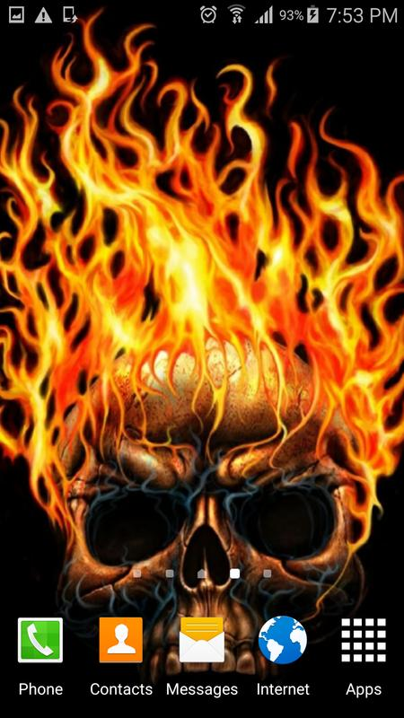 Fire skulls live wallpaper apk download free personalization app fire skulls live wallpaper apk screenshot voltagebd Images
