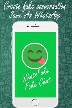 Whats Fake Chat Maker (Fake Text Messages) poster