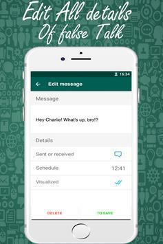 Whats Fake Chat Maker (Fake Text Messages) screenshot 1
