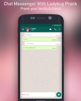 Chat Messenger With Ladybug Prank screenshot 1