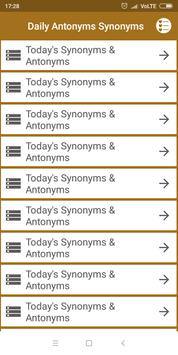 Antonyms Synonyms  One-Word Substitution (offline) screenshot 1