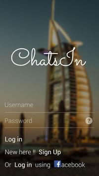 ChatsIn - Free Chat poster