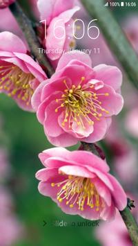 Sakura Pattern Lock Screen poster
