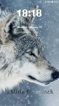Wolf Pattern Lock Screen poster
