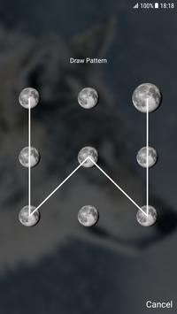 Wolf Pattern Lock Screen screenshot 1