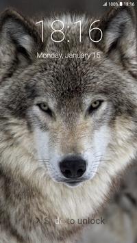 Wolf Pattern Lock Screen screenshot 3