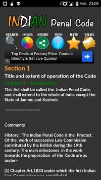 Indian Penal Code 2016 apk screenshot