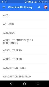 Chemical Dictionary screenshot 1