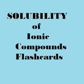 Solubility of ionic compounds icon