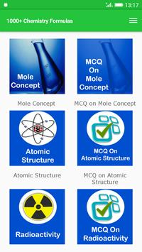 1000+ Chemistry Formulas poster