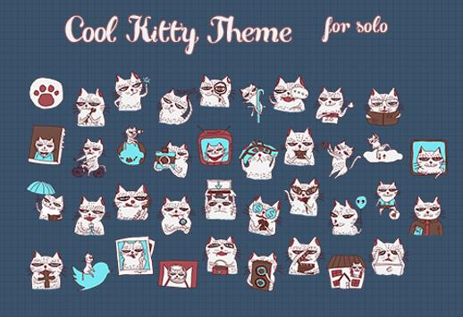 CoolKitty Solo Theme screenshot 1