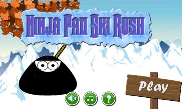 Ninja Pet Moo Ski Rush poster