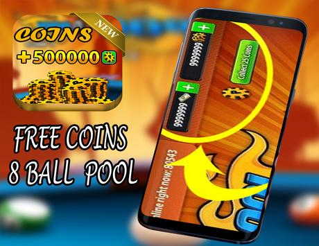 UNLIMITED cash and coins 8 Ball Pool - Prank Free poster