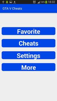... Cheats for GTA V apk تصوير الشاشة ...