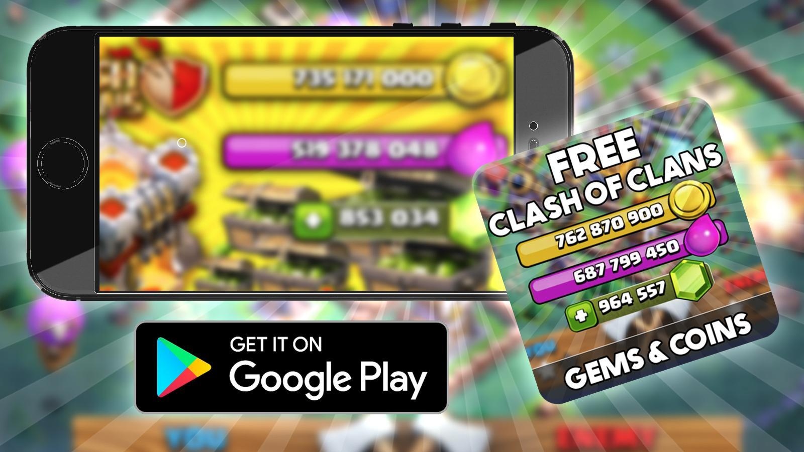 Free Gems Clash Of Clans Cheats Prank For Android Apk Download