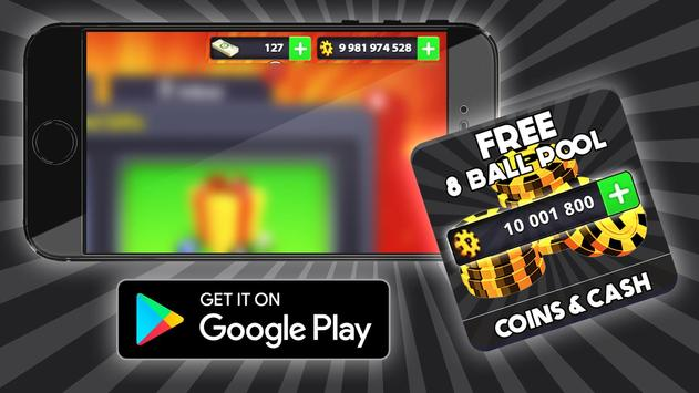 Free Coins 8 ball Pool Cheats : Prank poster