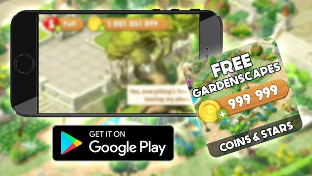 Free Coins Gardenscapes  Cheats : Prank poster