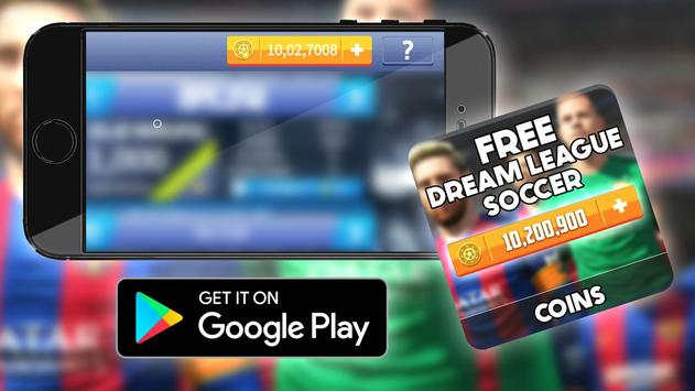 Free Coins Dream League Game Hack : Prank poster