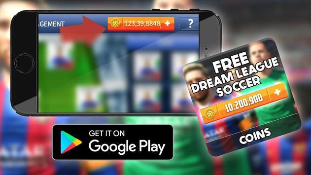 Free Coins Dream League Game Hack : Prank screenshot 3