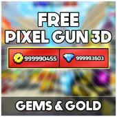 Free Pixel Gun 3d Coins : Prank icon