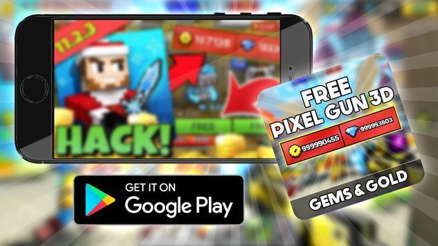 Free Pixel Gun 3d Coins : Prank screenshot 2