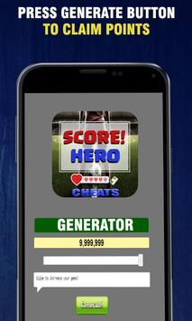 Cheats For Score Hero - App Joke Prank!! poster