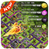 Gems For Clash Of Clans PRANK-icoon